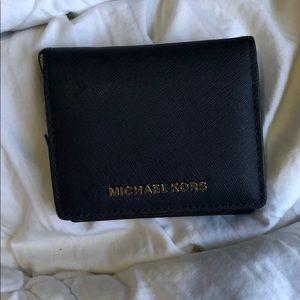 Navy blue Michael Kors leather wallet